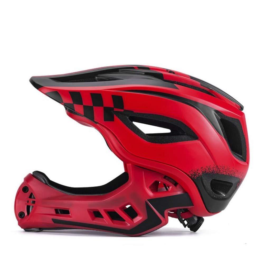 LGHSOEMN Fahrradhelm Radfahren Fahrrad Voll Umfaßter Kinderhelm EPS Parallel Auto Motorrad Kinder Helm 2 In 1 Sport Schutzhelme