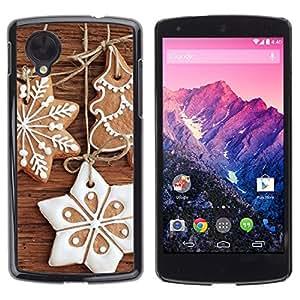 YOYO Slim PC / Aluminium Case Cover Armor Shell Portection //Christmas Holiday Gingebread Decorations 1138 //LG Google Nexus 5