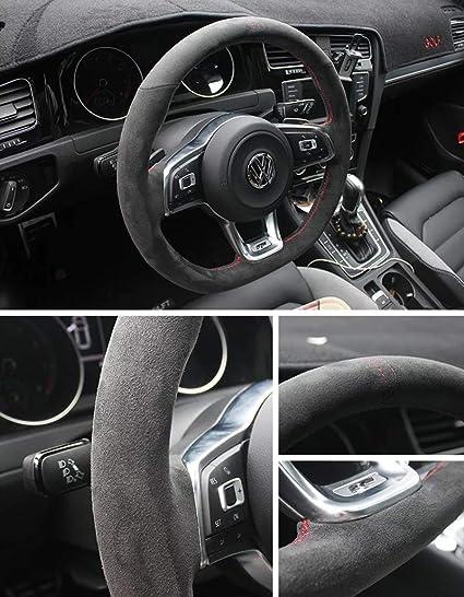 Pinalloy - Funda de volante para Golf 6 7 MK 6 7 GTI (38 cm de ...