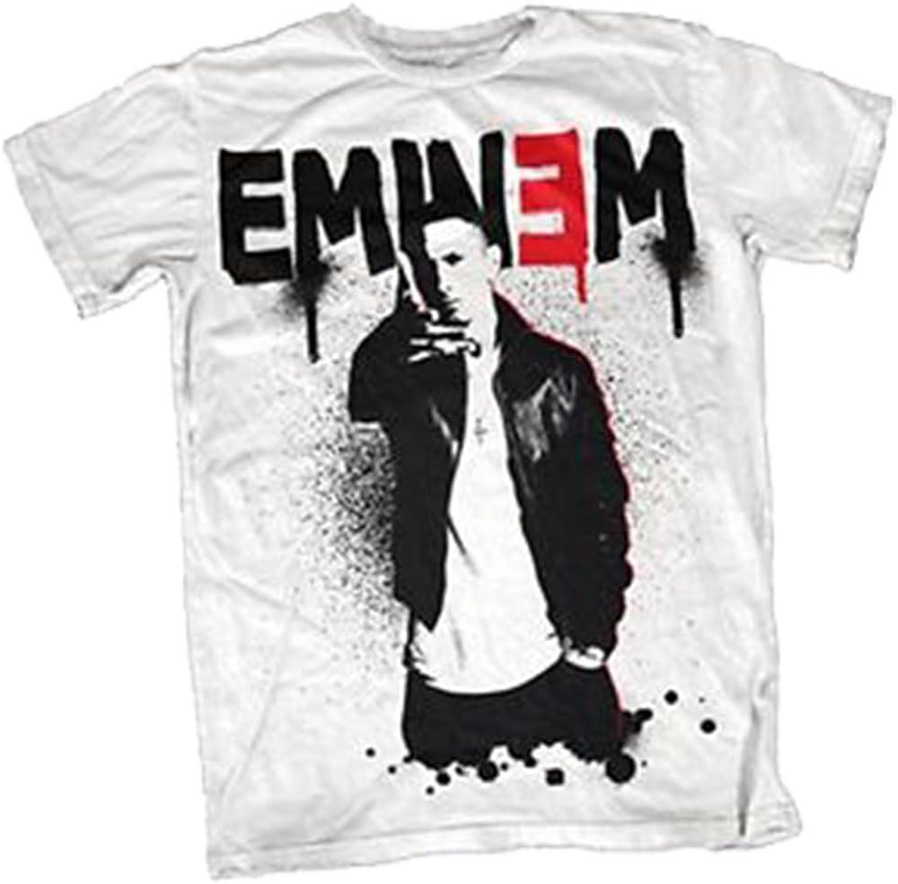 Eminem T-camiseta de manga corta camiseta para hombre de agua con conector para vaporizarse rojo colores blanco y negro