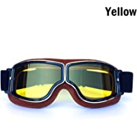 a631eb6079 Yopria Vintage Goggles Sports Sunglasses Helmet Steampunk Eyewear for  Outdoor Motocross Racer Motorcycle Aviator Pilot Style