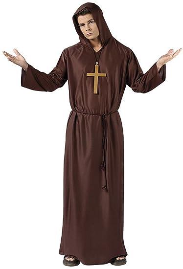 Amazon.com: Fun World Men\'s Monk, Brown, STD. up to 6\'/200 Lbs: Clothing