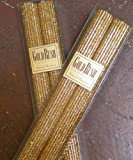 12 Inch Natural Beeswax Glitter Candles, Gold Color, Boxed Set of 2