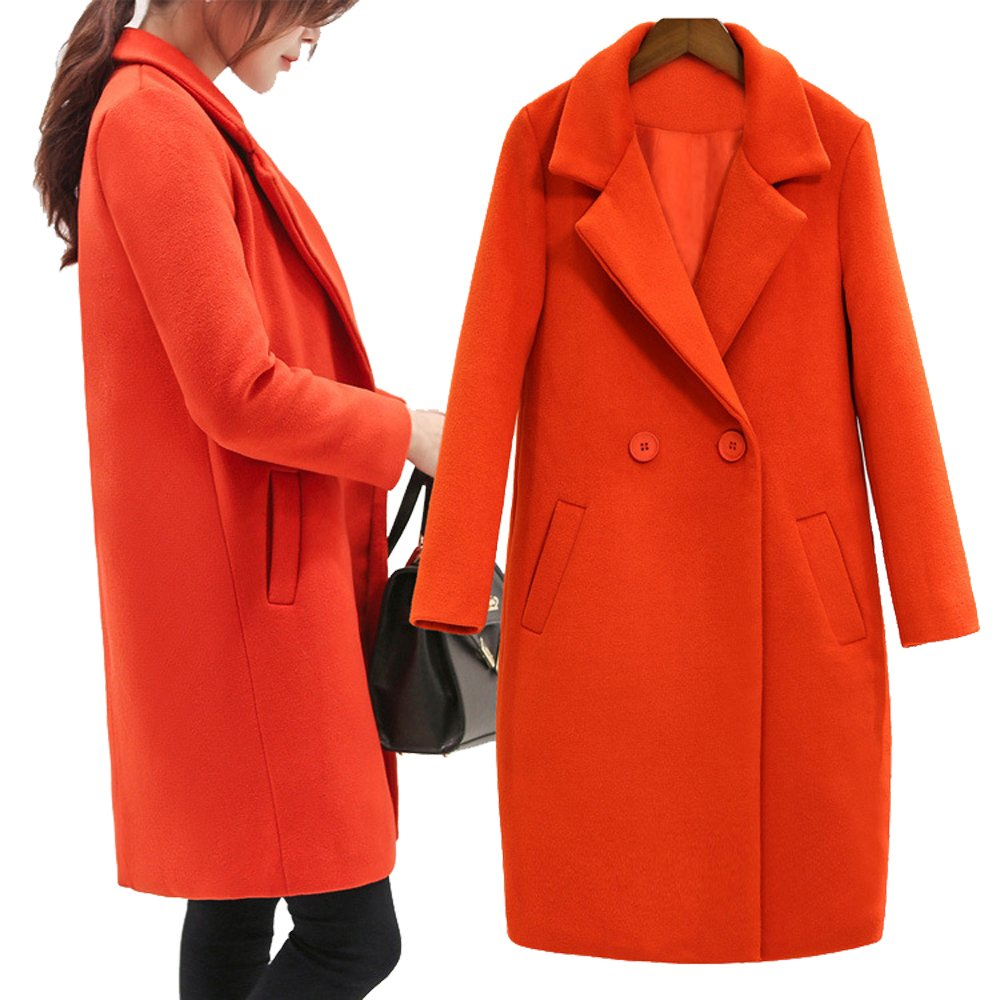 Cashmere Cocoon Coat And Long Sections Woolen Overcoat Multicolor Multi-size sd.wei