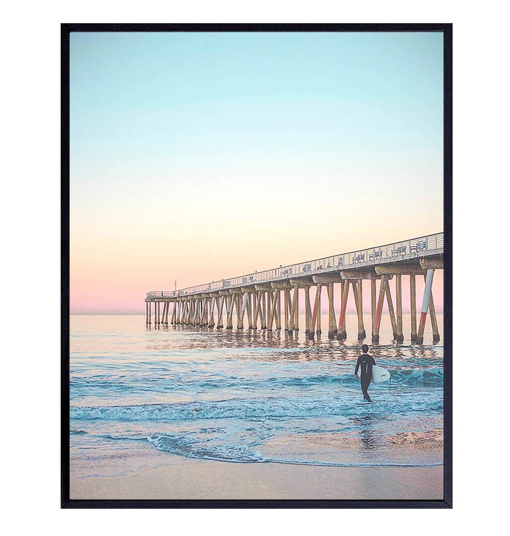 Surfer at Sunset – Ocean, Beach Wall Decor