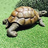 Cheap Whole House Worlds Toby Turtle, Ultra-realistic Outdoor Garden Tortoise Statue, 13 3/8 x 9 3/4 x 5 1/2 inches, By