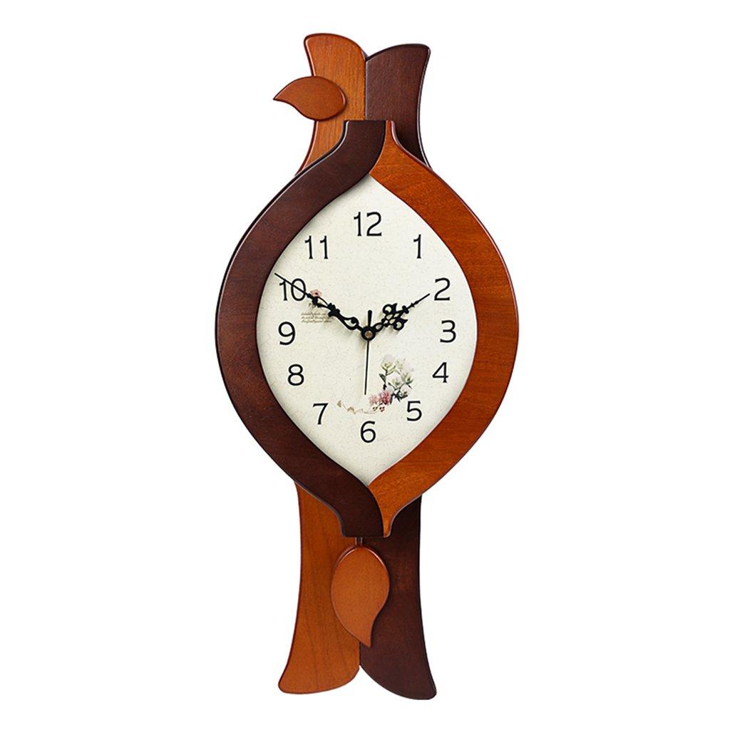 JCRNJSB® ウォールクロック、リビングルームヨーロッパスタイルモダンシンプルな振り子時計ホーム中国のクォーツ時計ミュートソリッドウッドクロック24x52.5cm 壁掛けサスペンション クロックウォールクロック クォーツ時計 (色 : #2) B07CVV6VGT#2