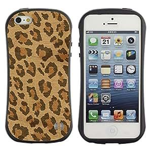 Suave TPU GEL Carcasa Funda Silicona Blando Estuche Caso de protección (para) Apple Iphone 5 / 5S / CECELL Phone case / / Spots Fur Africa Brown Beige /