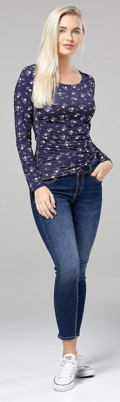 Mujer pr/émaman Camisa Zeta Ville El/ástico Jersey 947c
