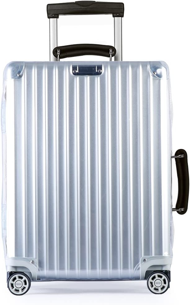 Luggage Cover Protector Clear PVC with Grey Zipper for RIMOWA Classic Flight