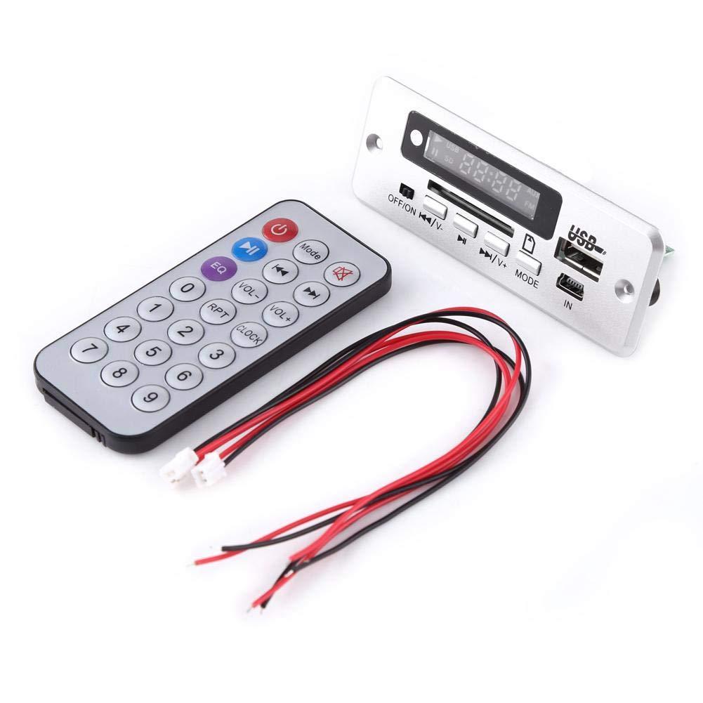 Hilitand DC 5V USB TF Radio sans Fil MP3 Lecteur Carte D/écodeur Module Audio Rouge Num/érique LED Panneau Daffichage sans Fil avec T/él/écommande