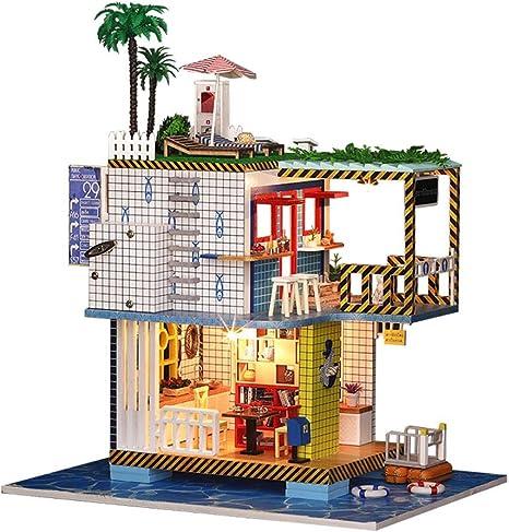 Amazon.es: RLFS Casa de muñecas Villa de Vacaciones Casa de ...
