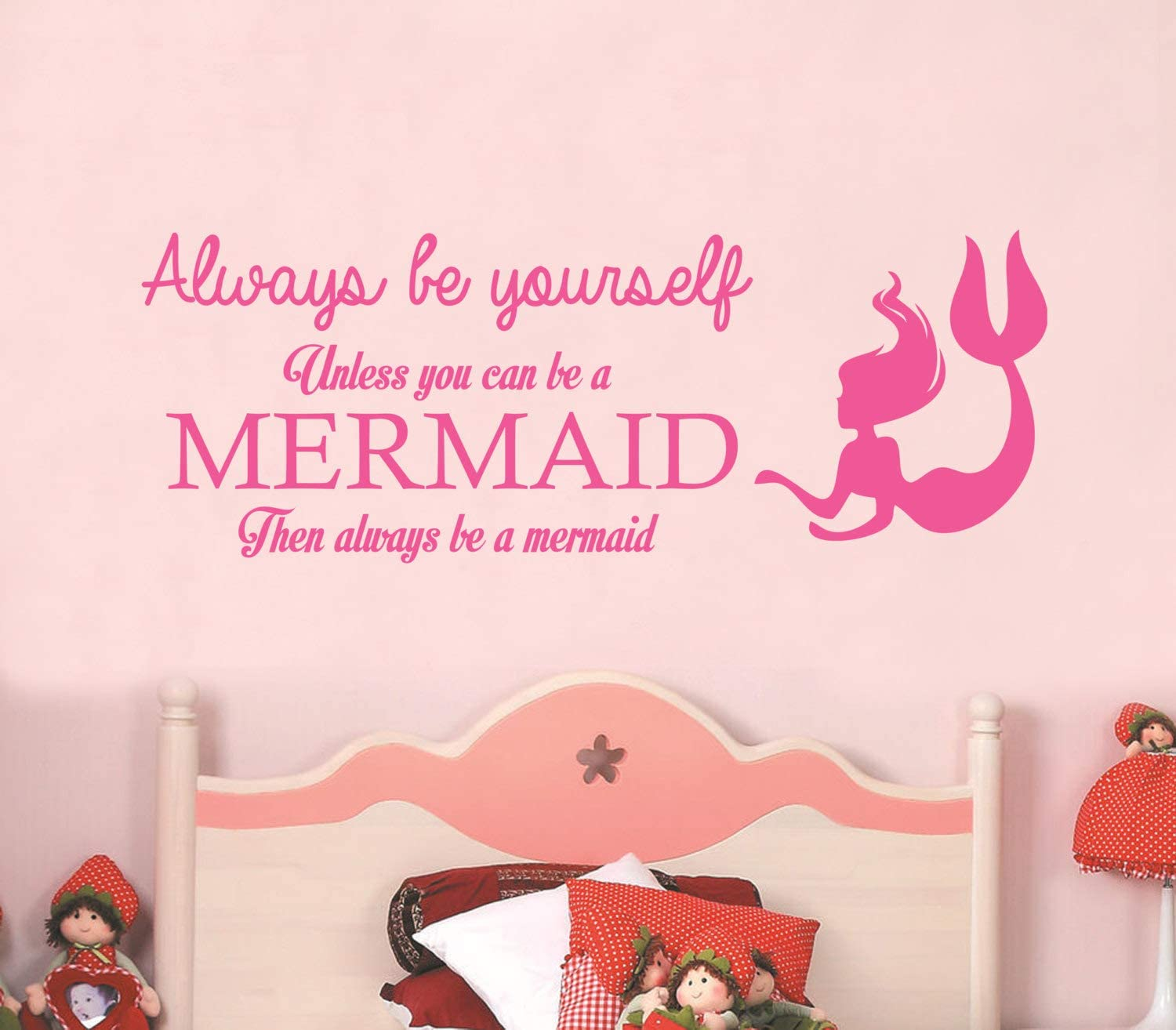 Always Be Yourself Unless You Can Be a Mermaid - Wall Stickers Art Decor Decal Vinyl Plaster Paper House Living Bedroom Room Simple Custom Decoration Tasteless Removable Self Customized 42