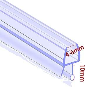 Tira de goma para mampara de ducha, 4 mm – 6 mm, curvado/plano ...