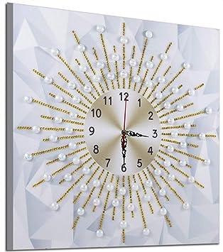 DIY Bricolaje Pintura diamante 5D Especial en forma de diamante Bordado Reloj de pared Oficio del arte Kit de punto de cruz para Casa pared Decoración ...
