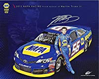 AUTOGRAPHED 2013 Martin Truex Jr. #56 NAPA Auto Parts Racing (MWR) SIGNED 8X10 NASCAR Hero Card with COA by Trackside Autographs