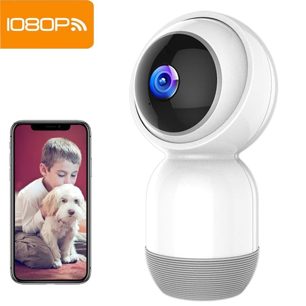 Cámara de Seguridad Mibao Cámara IP inalámbrica 1080P Cámara WiFi con visión Nocturna HD, grabación