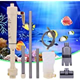 Gravel Cleaner, Battery Powered Aquarium Gravel Cleaner Fish Tank Siphon Water Aquatic Pet Change Cleaning Tool Electric…