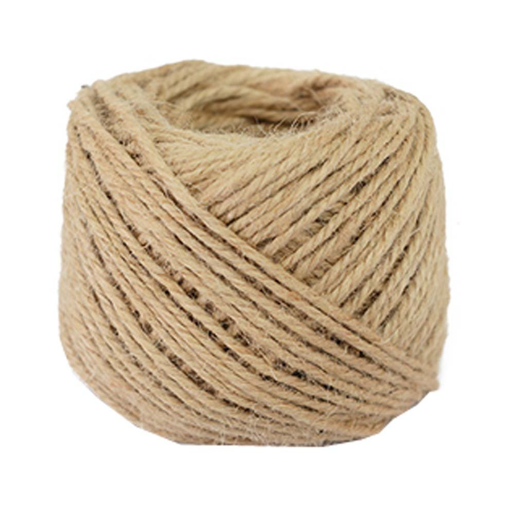 DRAGON SONIC 100% Natural Hemp Rope (3mm),100 Meters(328 ft) For Arts Crafts DIY Decoration