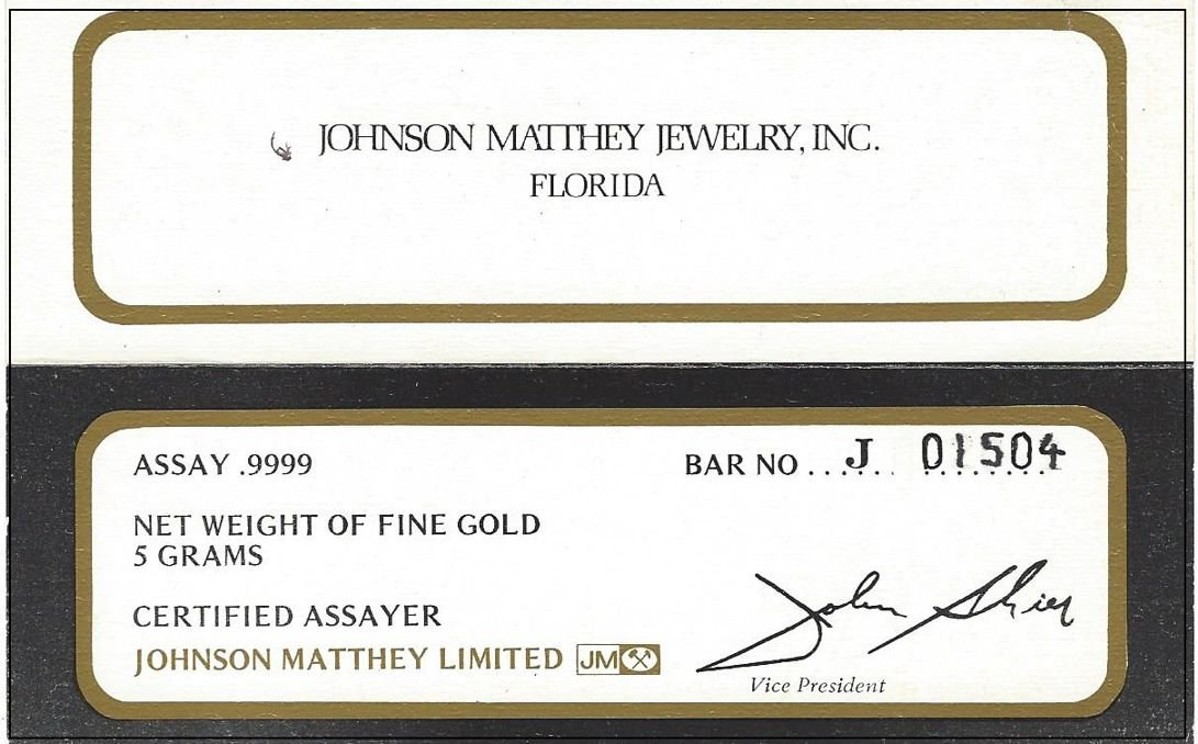 Johnson Matthey ''One of a Kind'' 14K Gold 5 Gram Ingot Ladies Watch With .50 ct Diamonds by RICH (Image #6)