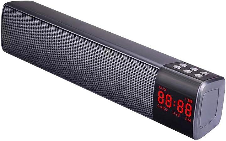 szdc88 Altavoz Inalámbrico, Estéreo Subwoofer Audio Bluetooth Barra de Sonido con FM Radio Función & Cancelación de Ruido Micrófono para Casa TV Smartphone - Negro, Free Size: Amazon.es: Hogar