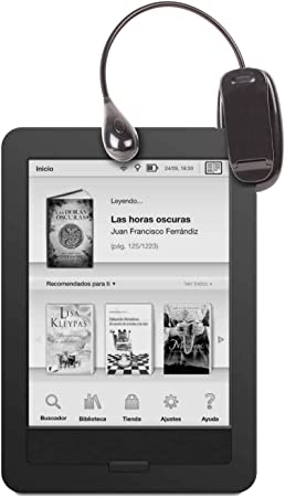 DURAGADGET Luz LED Doble De Lectura para eBook BQ Cervantes E ...