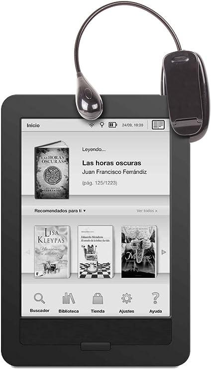 DURAGADGET Luz LED Doble De Lectura para eBook BQ Cervantes E ...