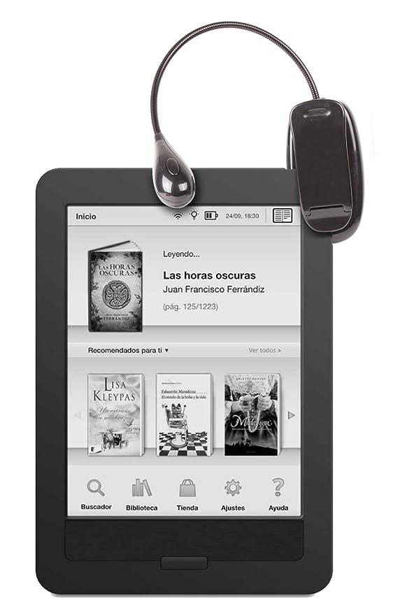 DURAGADGET Luz LED Doble De Lectura para eBook BQ Cervantes Touch ...