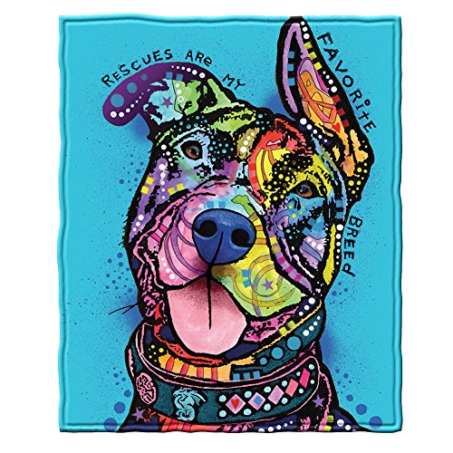 Dawhud Direct Rescues are My Favorite Breed Fleece Throw Blanket by Dean Russo (Dog Blanket Design)