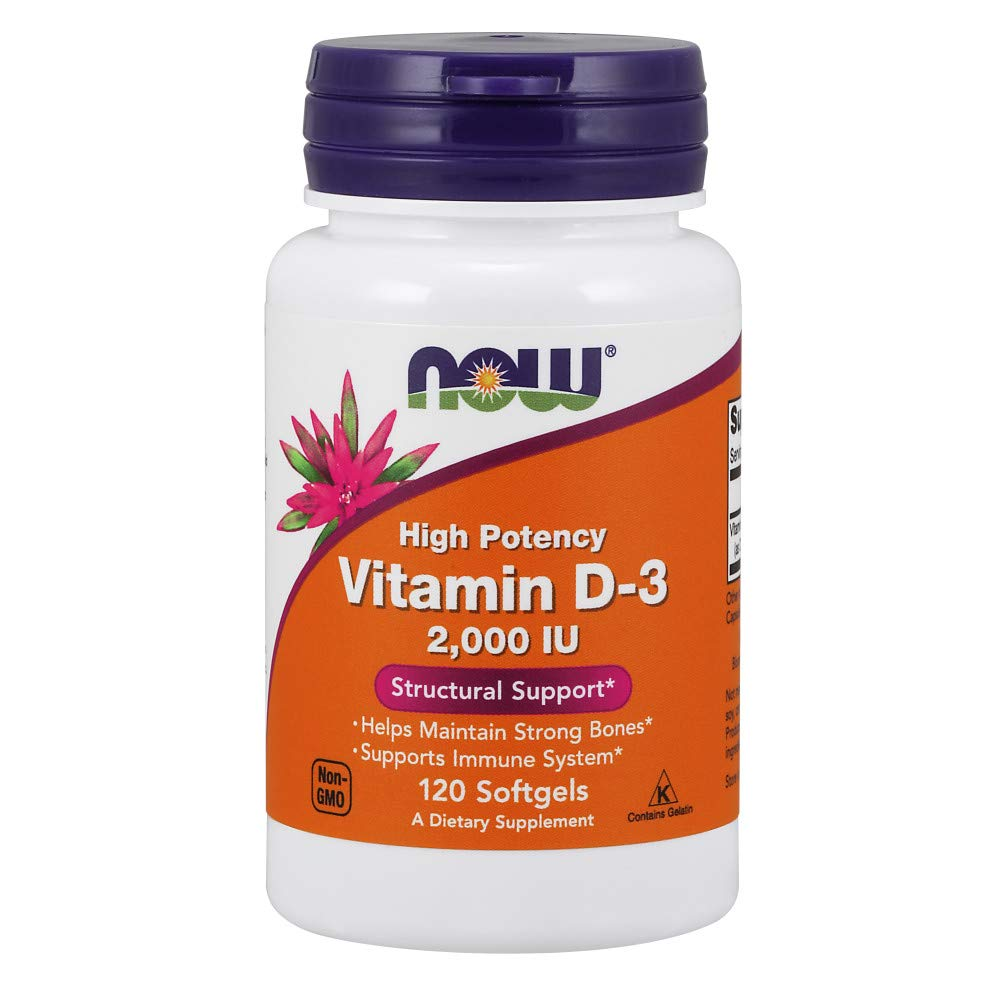 Now Supplements, Vitamin D-3 2000 IU, 120 Softgels