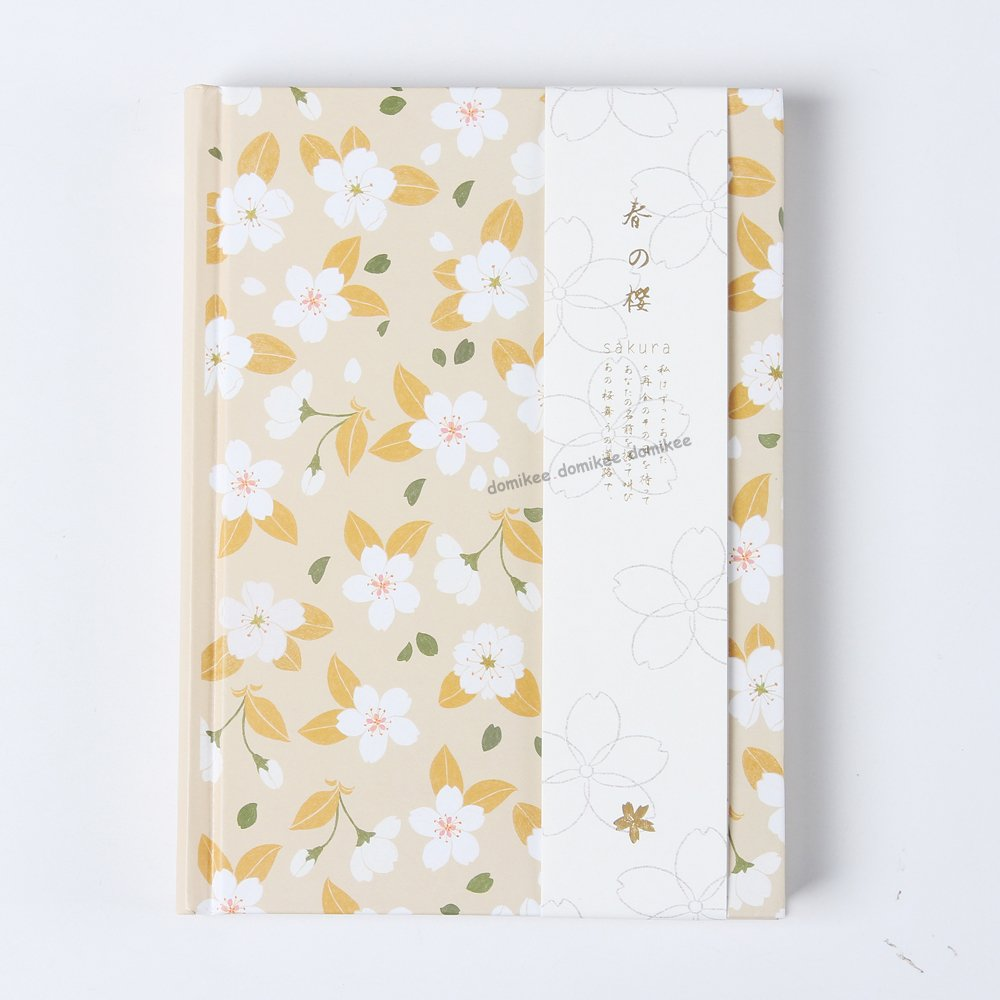 New cute cartoon Cherry blossoms series school student diary notebook stationery,candy hardcover person agenda planner organizer (yellow)