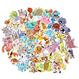 Pokemon Stickers Pikachu Laptop Stickers Pack Decals Cool Cartoon Stickers for Skateboard Guitar Car Bike Motorcycle Bicycle Bumper