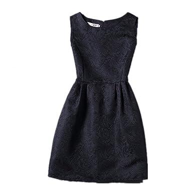 Amazon.com: Children Girls Princess Sleeveless Dresses Kids A-Line ...