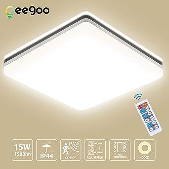 Oeegoo Lámpara de Techo con Sensor de Movimiento, 15W 1500LM ...
