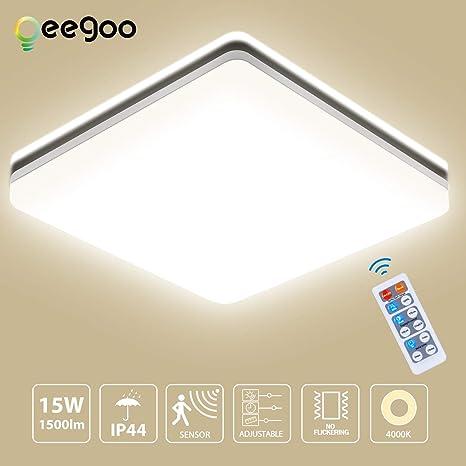 Oeegoo 15w Plafonnier Led 1300lm Carré Lampe De Plafond