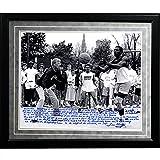 NCAA Notre Dame Fighting Irish Framed 16x20 Lou Holtz Facsimile 'Basketball vs. Tim Brown' Story Photo