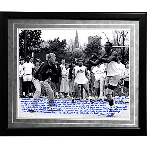 NCAA Notre Dame Fighting Irish Framed 16x20 Lou Holtz Facsimile 'Basketball vs. Tim Brown' Story Photo by Steiner Sports
