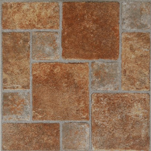 Home Dynamix Vinyl Tile, 12 by 12-Inch, Brown, Box of 45