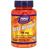NOW  Beta-Alanine 750mg, 120 Capsules