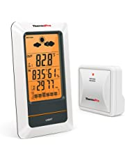 ThermoPro TP67 Weather Station Wireless Indoor Outdoor Thermometer Digital Hygrometer Barometer with Cold-Resistant and Waterproof Temperature Monitor, 200ft/60m Range