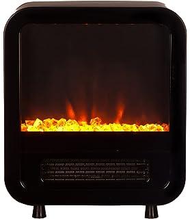 Amazon.com: Fire Sense Black Wall Mounted Electric Fireplace: Home ...