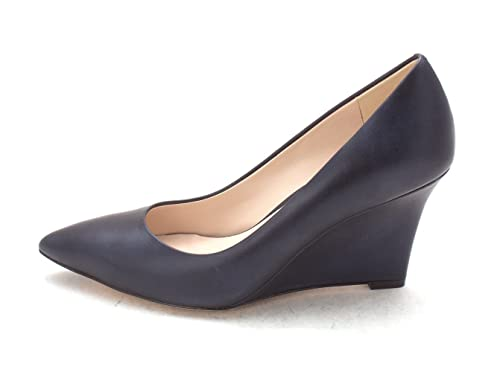 Cole Haan Womens 14A4226 Pointed Toe Wedge Pumps Navy Size 6.0