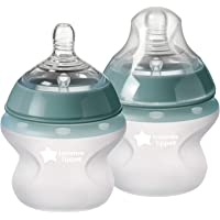 Tommee Tippee Closer to Nature Soft Feel Silicone Baby Bottle | Breast-Like Nipple, Anti-Colic, Stain & Odor-Resistant…