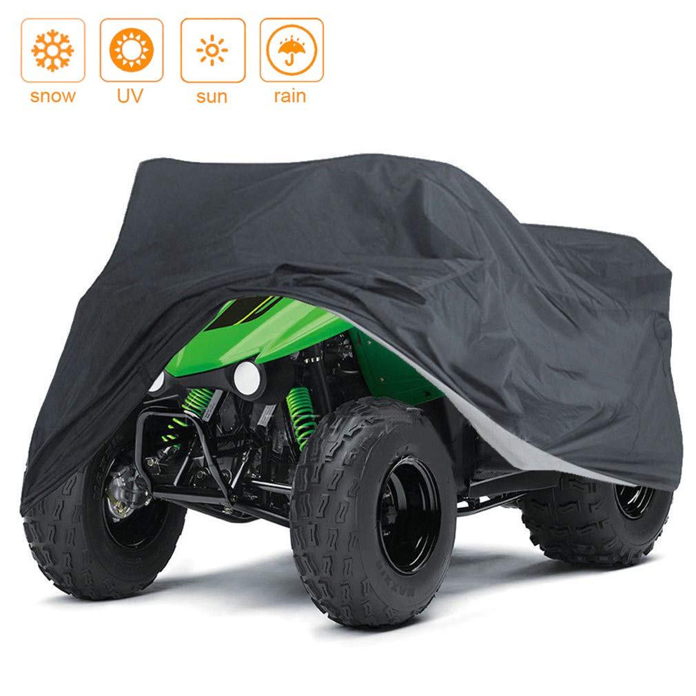 Indeedbuy Waterproof ATV Cover,Large Heavy Duty Black Protects 4 Wheeler From Snow Rain or Sun,102'' x44'' x 48''