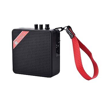 Beautyrain Mini Amplificador de Amplificador de Potencia con batería de 9V para Guitarra acústica/eléctrica Ukulele de Alta sensibilidad con Control de ...