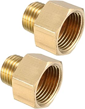 Brass Pipe Fitting 90 Degree Elbow G3//8 Male x G3//8 Male 5pcs