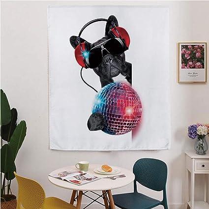Amazon com: Music Decor Blackout Window Curtain,Free Punching Magic