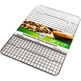 Oven Safe, Heavy Duty Stainless Steel Baking Rack & Cooling Rack, 12 x 17 inches Fits Half Sheet Pan
