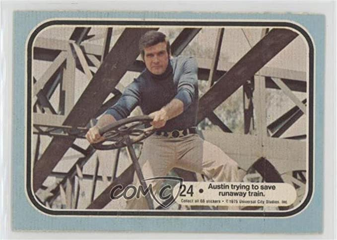 Austin Trying To Save A Runaway Train Trading Card 1975 Donruss The Six
