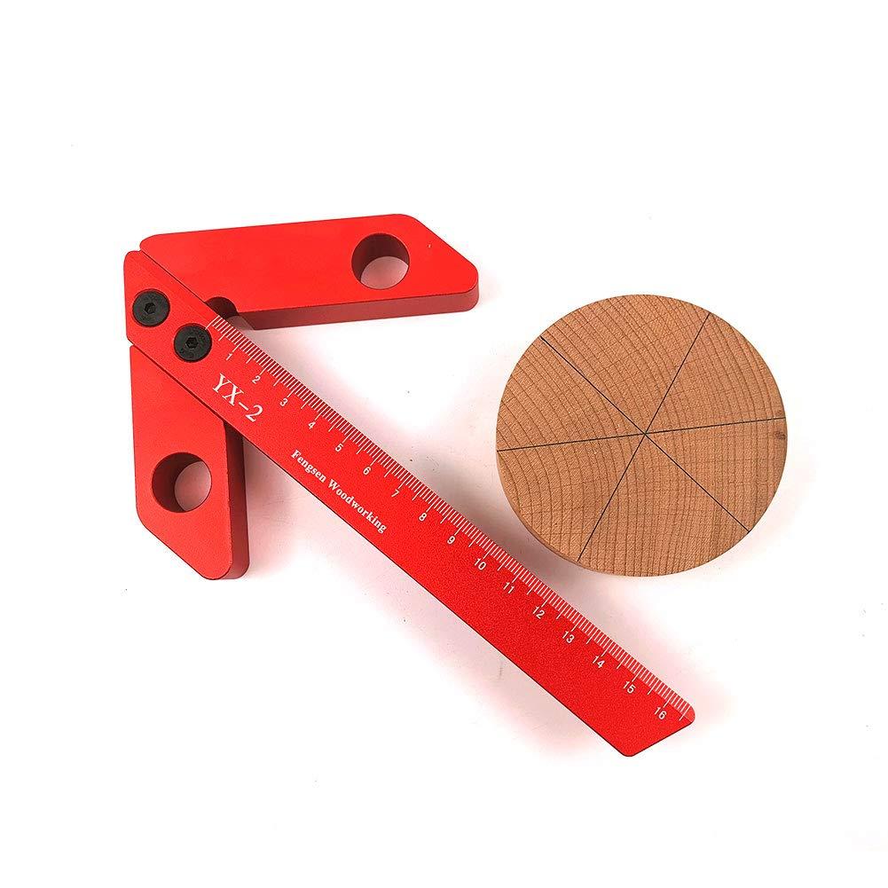 outil de mesure carr/é en alliage daluminium pour travail du bois jauge de ligne outil de tournage de tour. Pointeur de centrage outil de mesure /à 45//90 degr/és